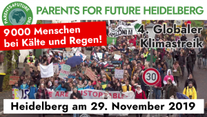 Demo vom 29.11. Fridays For Future Heidelberg