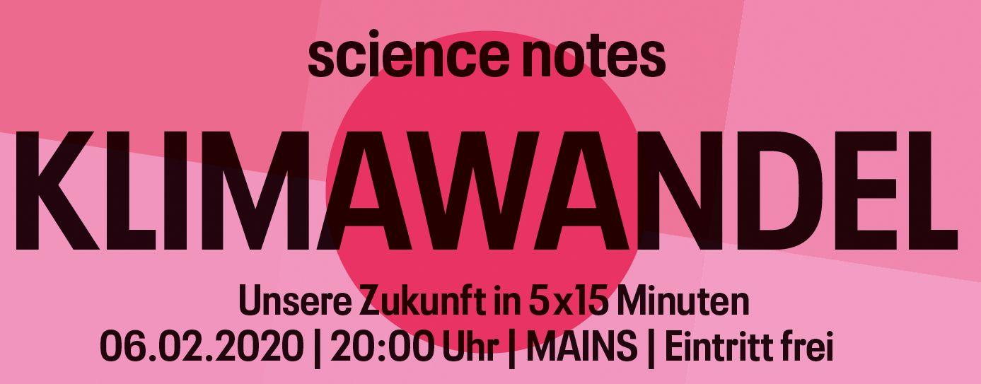 Science Notes Klimawandel Vorträge